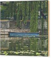 0044-2- Row Boat Wood Print