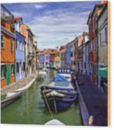 0045 Burano Colors 2 Wood Print