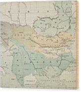 Balkan Map, 1885 Wood Print