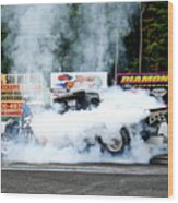 0056 08-04-2013 Lebanon Valley Dragway Night Of Fire Wood Print