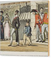 Paris Occupation, 1814 Wood Print