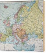 Map: Europe, 1885 Wood Print