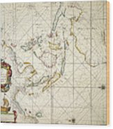 Map: East Indies, 1670 Wood Print