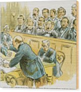 Litigation Cartoon Wood Print