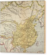 Map: China, 1910 Wood Print