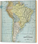 South America: Map, C1890 Wood Print