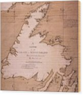 Cook: Newfoundland, 1763 Wood Print
