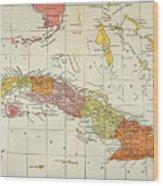 Map: Cuba, 1900 Wood Print
