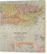 Map: Puerto Rico, 1900 Wood Print by Granger