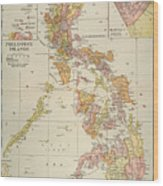 Map: Philippines, 1905 Wood Print