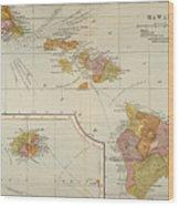 Map: Hawaii, 1905 Wood Print