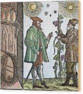 Wine Merchant, 1582 Wood Print
