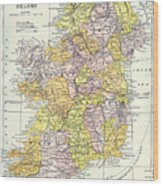 Map: Ireland, C1890 Wood Print