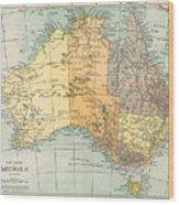 Map: Australia, C1890 Wood Print