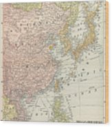 Map: East Asia, 1907 Wood Print