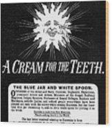 Fonweiss Toothpaste, 1887 Wood Print