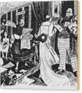 Press Cartoon, 1912 Wood Print