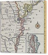 Map: North America, C1700 Wood Print