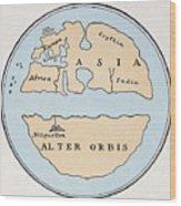 World Map, 1st Century Wood Print