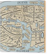 World Map 2nd Century Wood Print