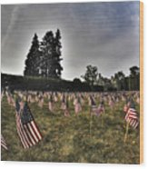 01 Flags For Fallen Soldiers Of Sep 11 Wood Print