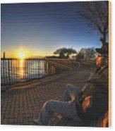 01 Me Sunset 16mar16 Wood Print