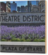 01 Plaza Of Stars Buffalo Theatre District Wood Print