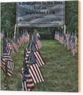 010 Flags For Fallen Soldiers Of Sep 11 Wood Print