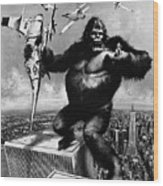 King Kong, 1976 Wood Print