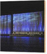 013 Grain Elevators Light Show 2015 Wood Print