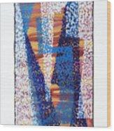 01325 Blue Too Wood Print