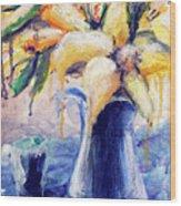 01353 Daffodils Wood Print