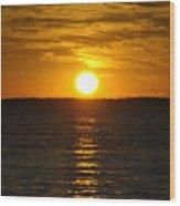 014 Sunset 16mar16 Wood Print