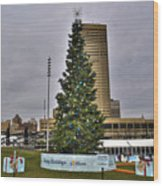 02 Happy Holidays From First Niagara Wood Print