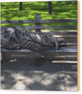 02 Homeless Jesus By Timothy P Schmalz Wood Print