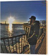 02 Me Sunset 16mar16 Wood Print