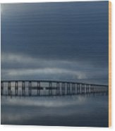0203 Mirrored Navarre Bridge On Sound Wood Print