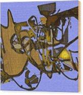 Tangles Wood Print