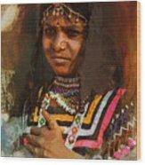 025 Sindh B Wood Print