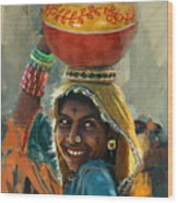 028 Sindh Wood Print