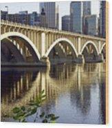 0333 3rd Avenue Bridge Minneapolis Wood Print