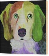 0356 Dog By Nixo Wood Print