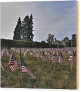 04 Flags For Fallen Soldiers Of Sep 11 Wood Print