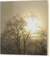 04 Foggy Sunday Sunrise Wood Print