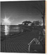 04 Me Sunset 16mar16 Bw Wood Print