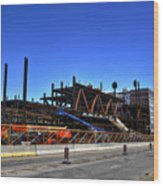 04 Medical Building Construction On Main Street Wood Print