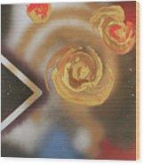 046 Thrice Golden Wood Print
