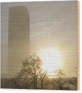 05 Foggy Sunday Sunrise Wood Print