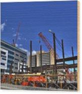 05 Medical Building Construction On Main Street Wood Print