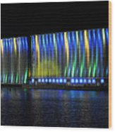 06 Grain Elevators Light Show 2015 Wood Print